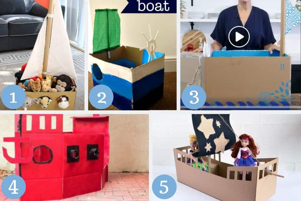cardboard boat crafts