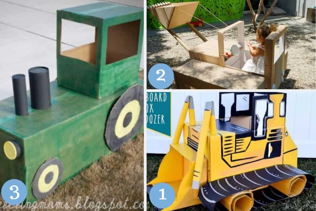 cardboard tractor crafts