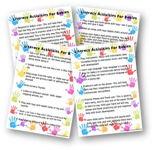 baby literacy activities