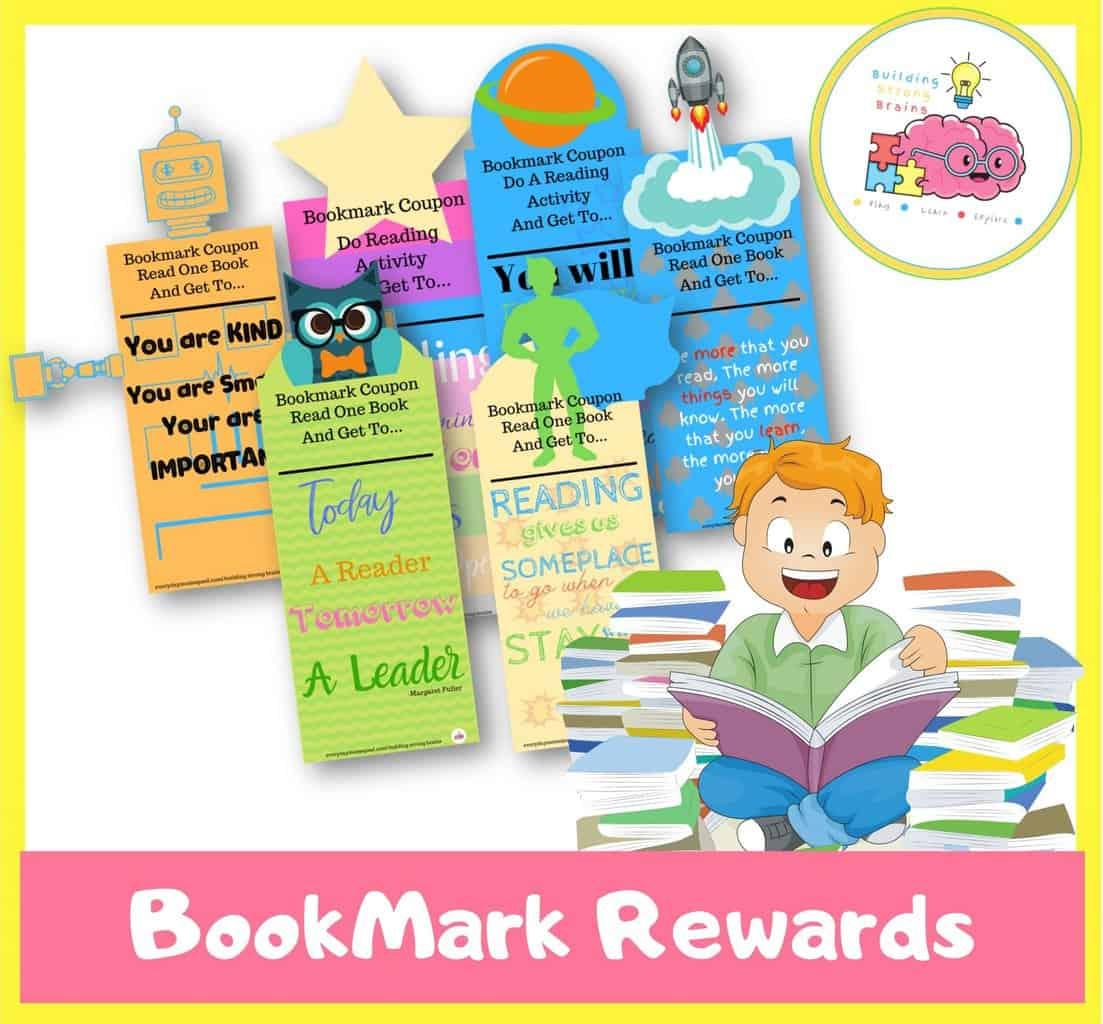 bookmark reward printable for kids